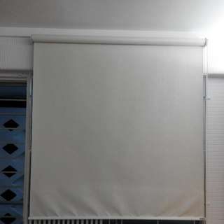 1 Tana Grey And White  Roller Window Blinds Width 1.15m Left