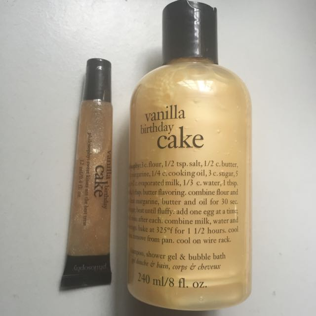 50 Off Philosophy Vanilla Birthday Cake Set Health Beauty On Carousell