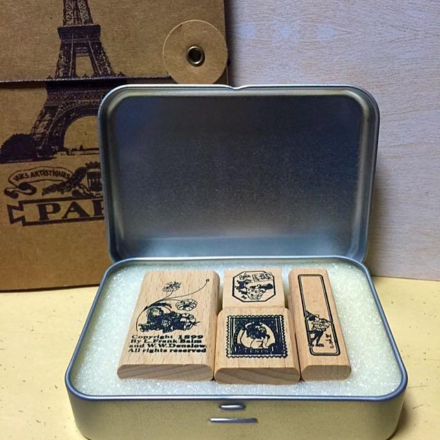復古愛麗絲夢遊仙境印章一盒