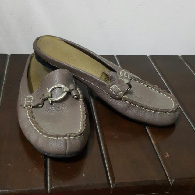 牛皮懶人鞋