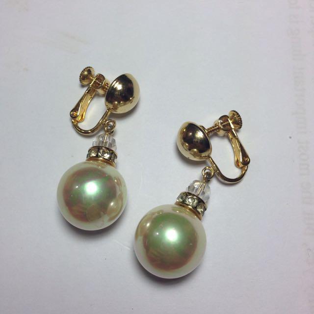 🇯🇵夾式珍珠耳環