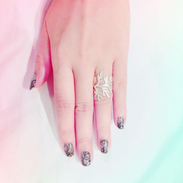 設計師單品 薰衣草葉純銀戒指