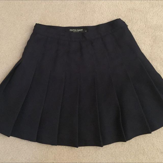 American Apparel Tennis Skirt - Navy, Size M