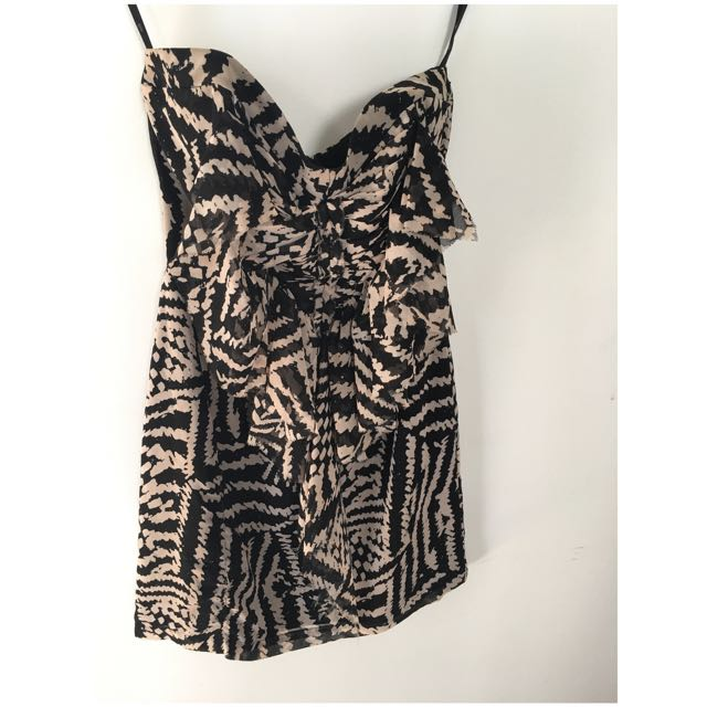 Anise Short, Strapless Dress Size 6