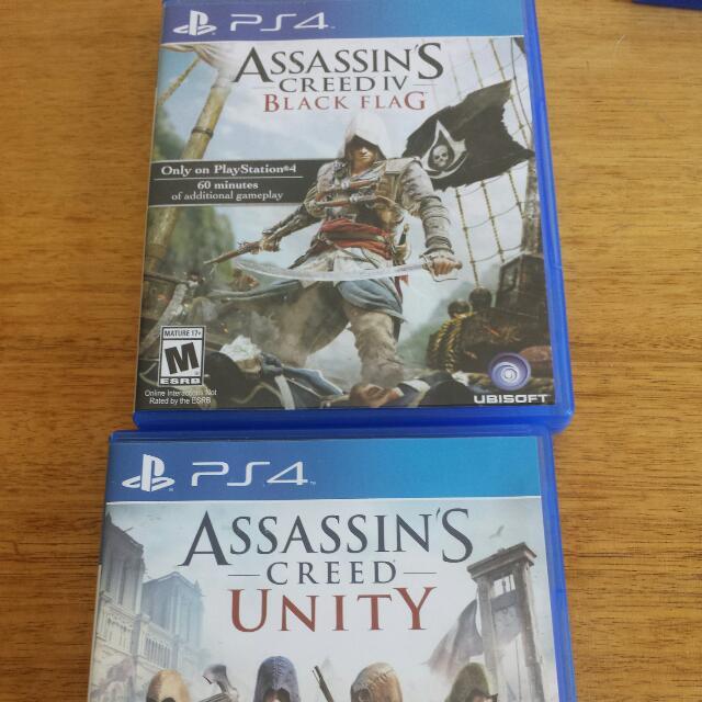 Assassins Creed Black Flag & Unity - PS4