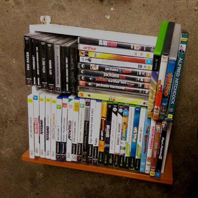 Assorted Ps1, Xbox, Nintendo Wii, Ps2 and DVDs. $5 Each.