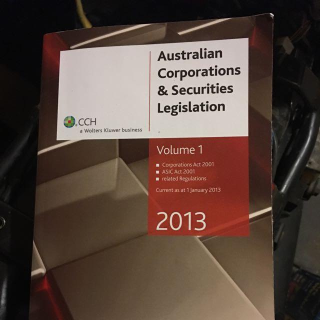 Australian Corporations & Securities Legislations