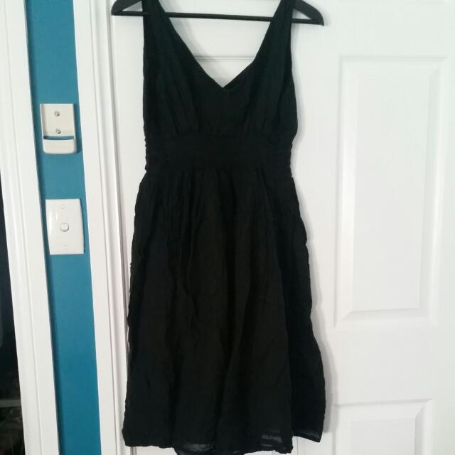 Black Cotton Dress Size M