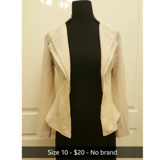 Cream/Soft Pink Jacket