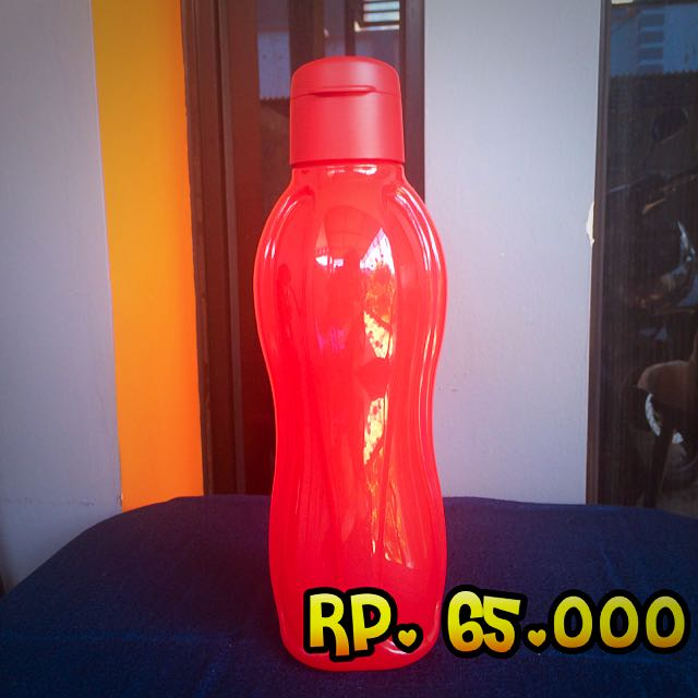 Tupperware Eco Bottle 1 lt tutup Flip (Red)