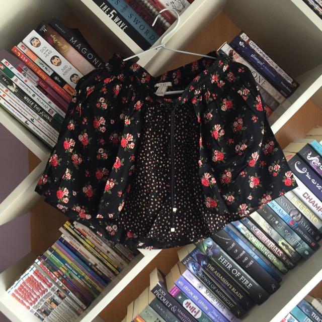 Forever 21 Floral Black Skirt