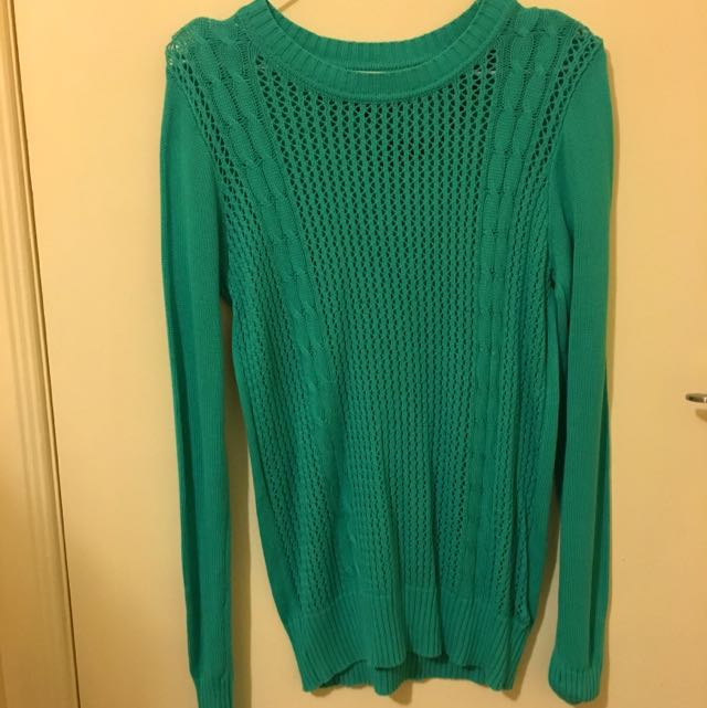 Forever 21 Turquoise Knit top