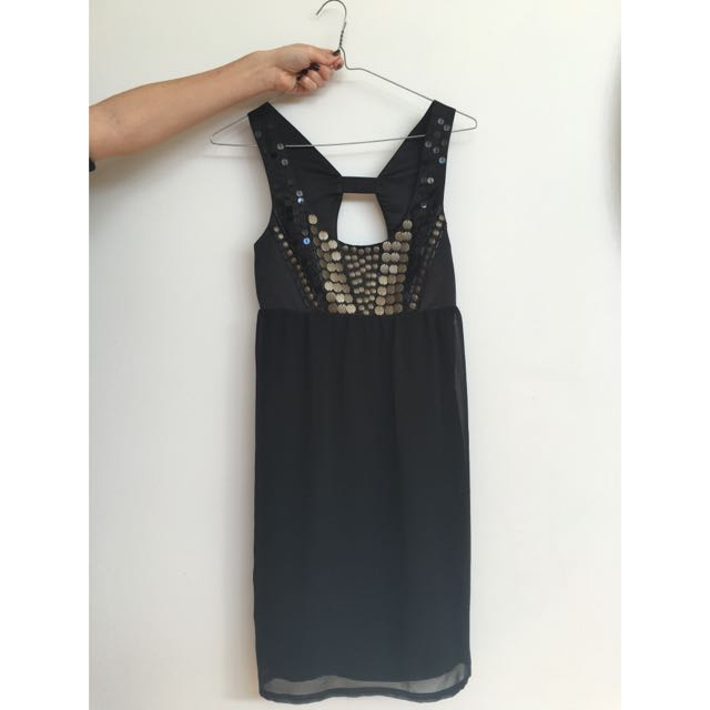 'Ladakh' Black Dress Size 6