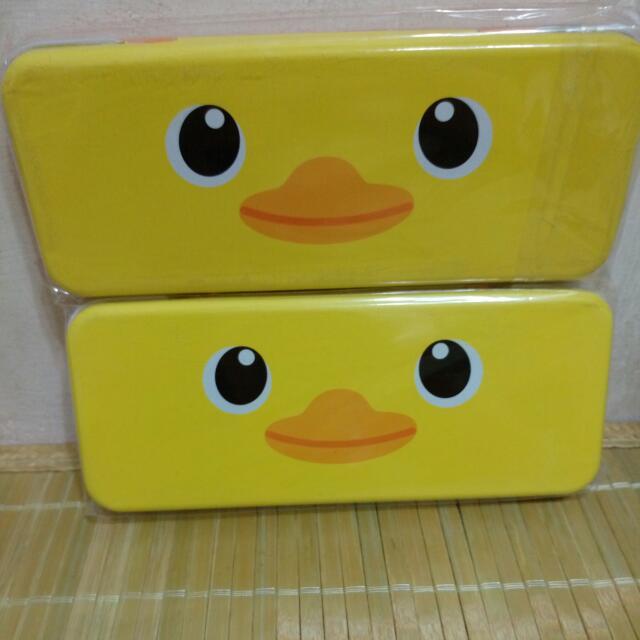 黃色小鴨luck duck鐵製鉛筆盒