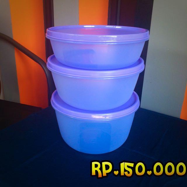 Tupperware Multi Bowl Set (purple)