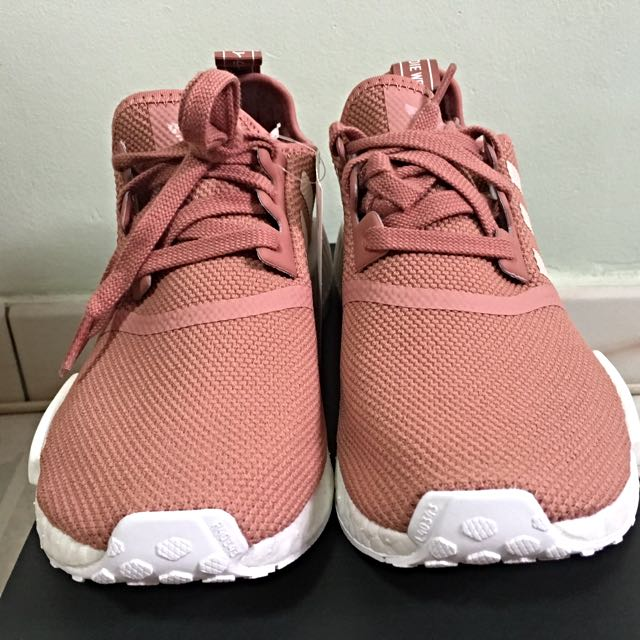 abb1300f97621 Adidas Originals NMD R1 W Raw Pink Limited Edition Rose Salmon Peach Women s  Shoes