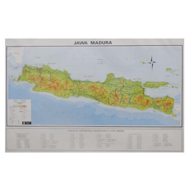 Peta Pulau Jawa Madura Lipat Serbi Carousell Gambar Skala