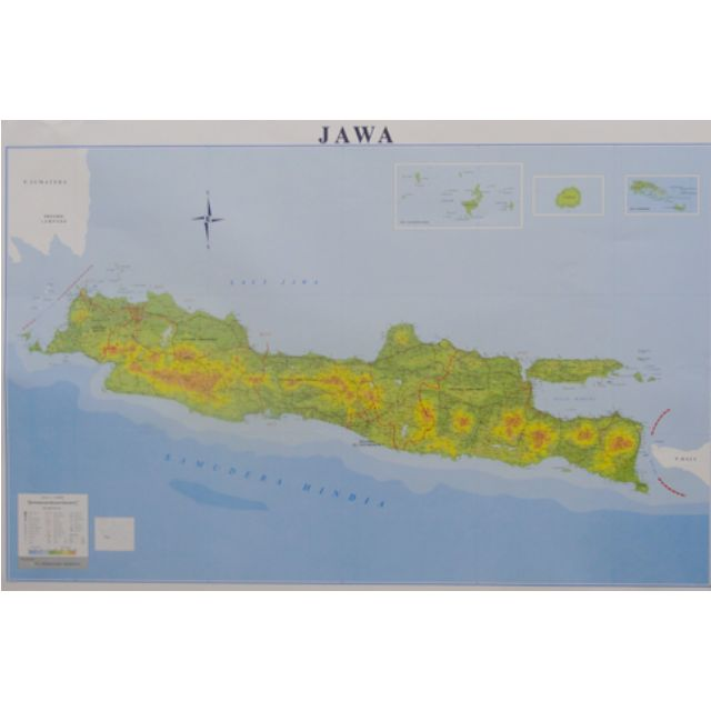 Peta Pulau Jawa Lipat Serbi Carousell Gambar Skala