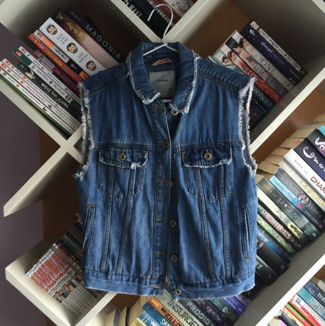 Pull & Bear Sleeveless Jeans Shirt
