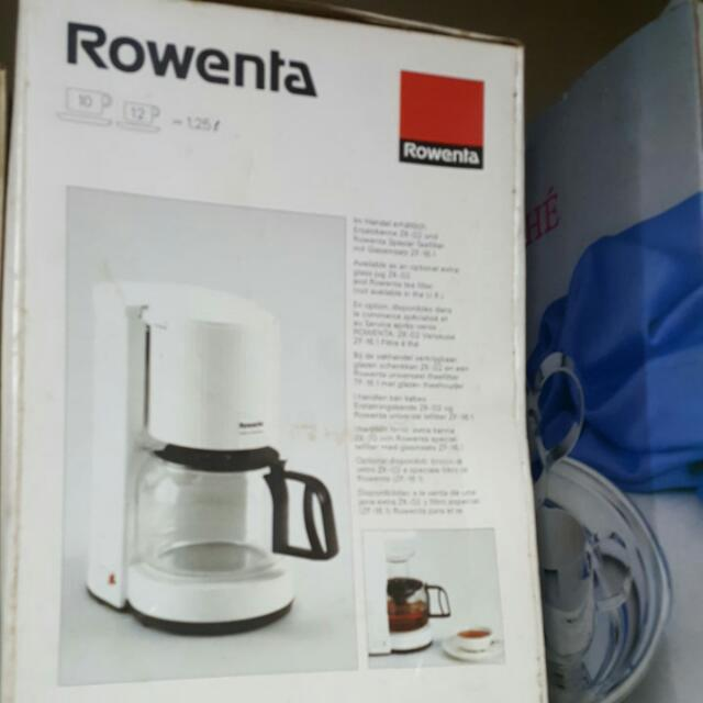 ROWENTA COFFEE MAKER, Home Appliances On Carousell