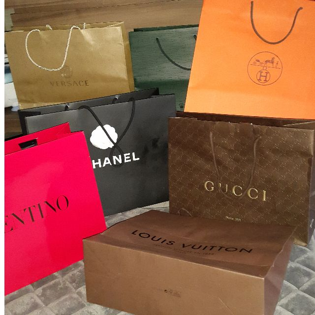 771e225d7 Shopping haul. BUNDLE PRICE All branded paperbags Hermes Chanel Vercase  Gucci Louis Vuitton LV Rolex Valentino, Luxury on Carousell