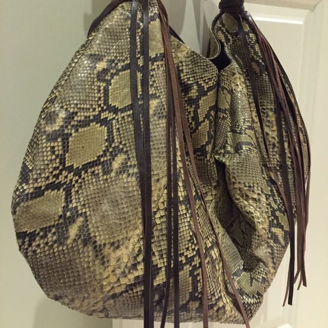 Snake Leather Skin Bag Real Leather