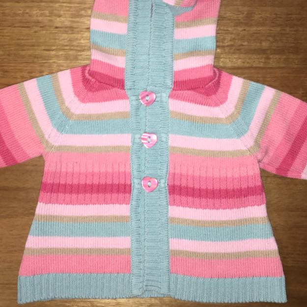 Striped Cardigan Size 3-6 Months