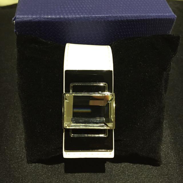 Swarovski Bracelet With Leather Band