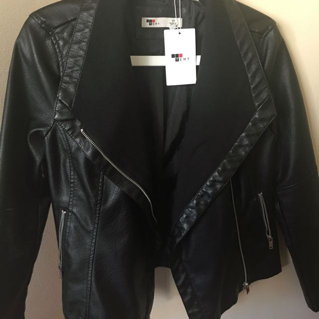 Temt Waterfall Pleather Jacket