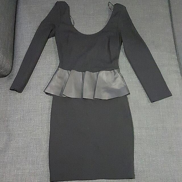 Topshop Peplum Dress Size S