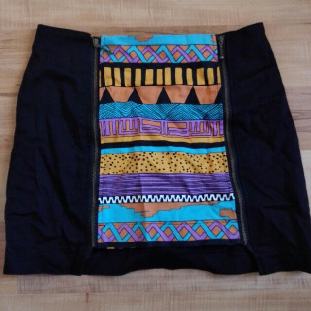 Tribal Print Skirt