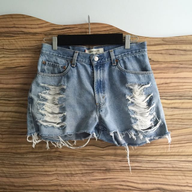 Vintage Levi's 506 High Waisted Denim Shorts