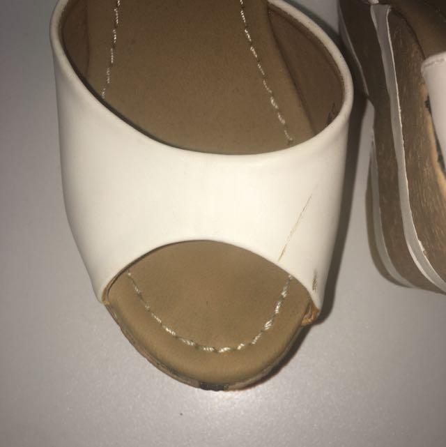 Wedges Heel White Sandal