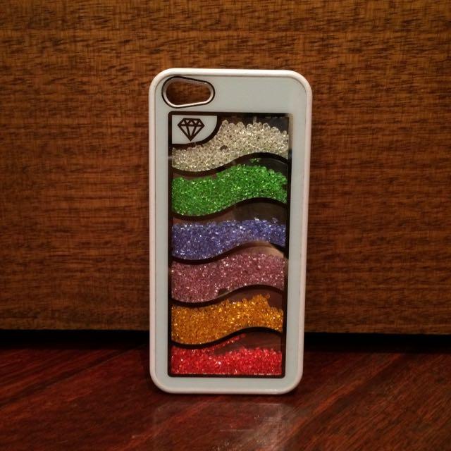 White Glittery iPhone 5 Case