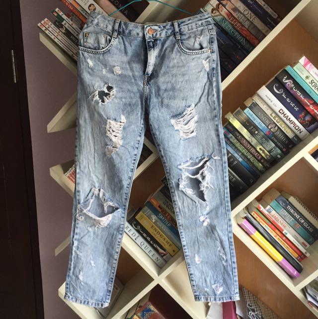 Zara Premium Wash Boyfriend Jeans