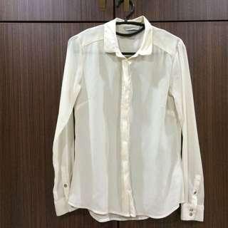 H&M Sheer Blouse - Off White