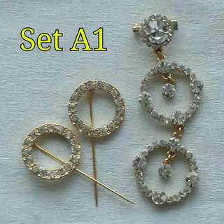Set Brooch & Hijab Pins