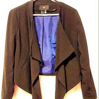 Forever 21 Black Flowy Blazer Size 12