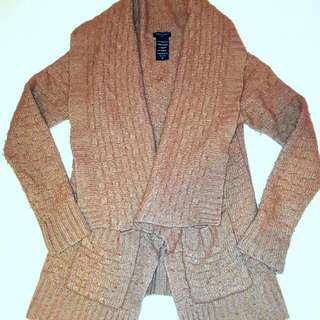 Aritzia Talula Caramel Cardigan with pockets Size M