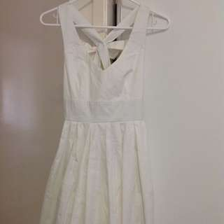 Showpo Marilyn Monroe Like Dress (White) - Size 10