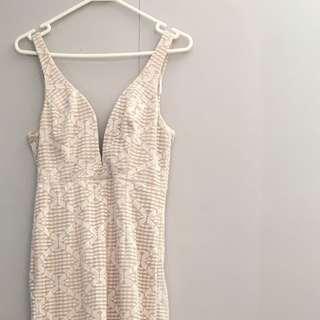 Elegant Lace Blush Dress