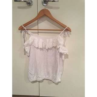 Frilly White Top