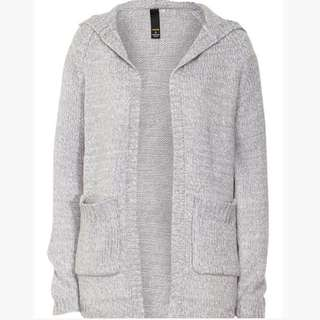 Factorie Grey Hooded Cardigan