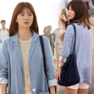 Korean DOTS Light Blue Blazer