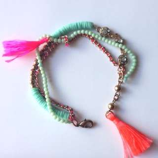 Lovisa - Mint Green & Pink Bracelet