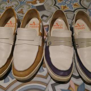 Jshoes Loafers 2 Pairs (Genuine Leather)