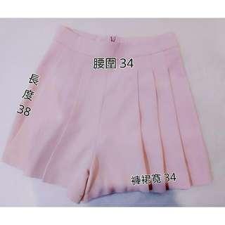 全新側百摺褲裙(粉) M號