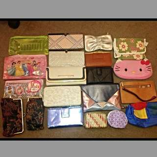 Assorted Purses, Wallets, Clutches