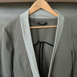 Life With Bird Grey Shawl Jacket Size L