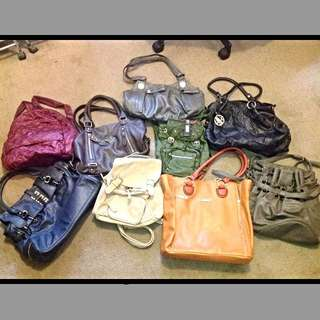 Assorted Backpacks, Handbags